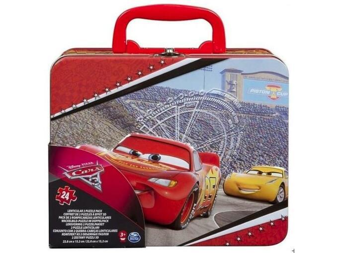 SPIN MASTER sestavljanka v pločevinki CARS LENTIKULARNE 778988659106