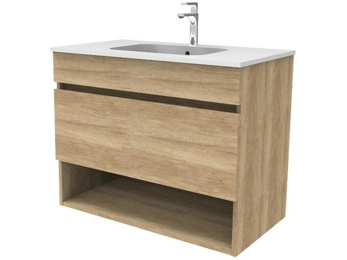 SANOTECHNIK omarica z umivalnikom SMART 50602, hrast - ODPRTA EMBALAŽA
