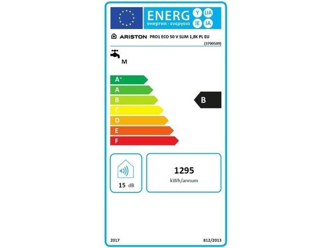 Ariston električni grelnik vode PRO1 ECO 50 V SLIM 1,8K PL EU 3700509 - ODPRTA EMBALAŽA