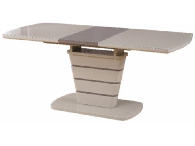 GENT raztegljiva miza RONIX kapučino + rjava 140/180x80