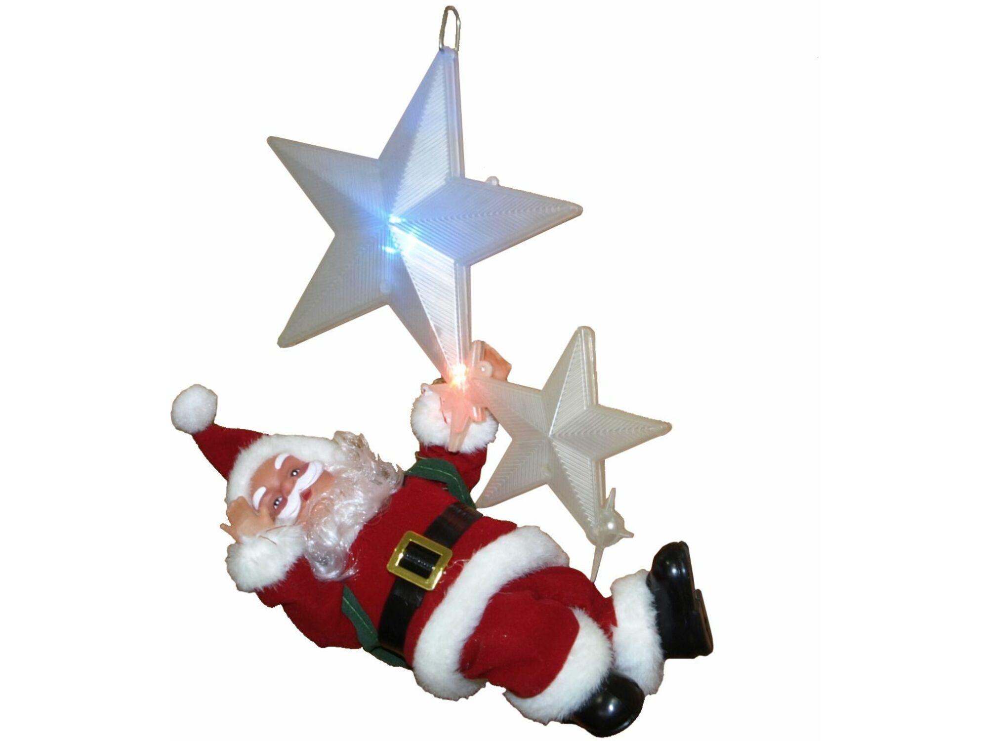 Deda Mraz na bat. LED 20cm 41-873000