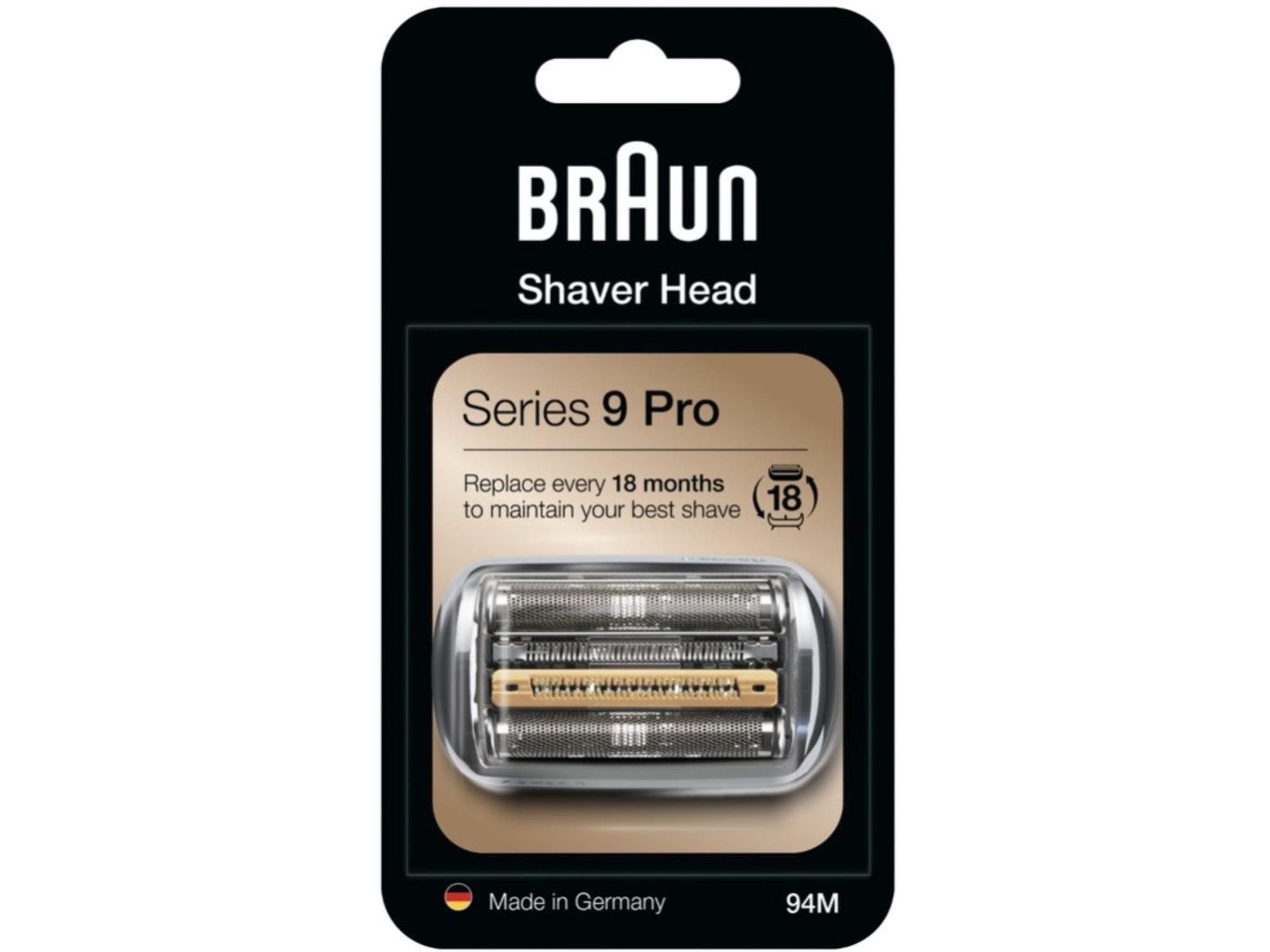 Braun nadomestna glava 94M, srebrna
