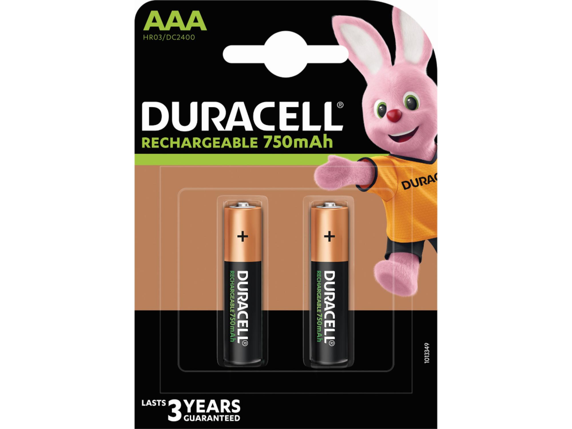 DURACELL polnilna baterija 750 mAh AAA K2