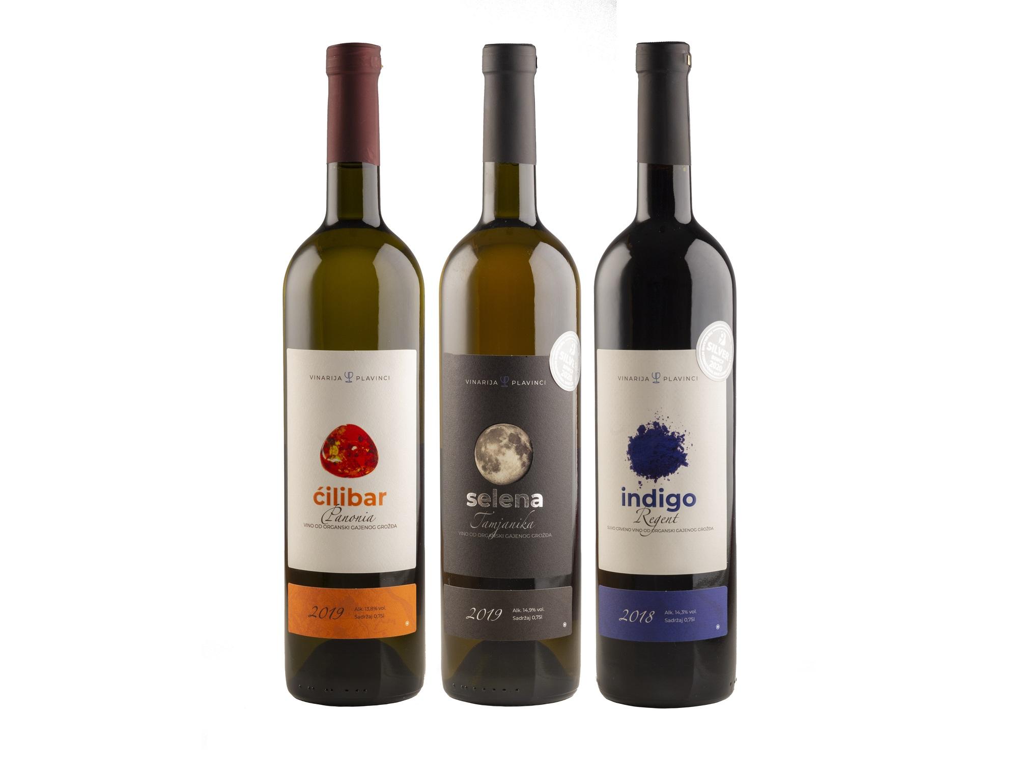 Vinarija Plavinci Degustacioni paket organska vina 3x0.75L