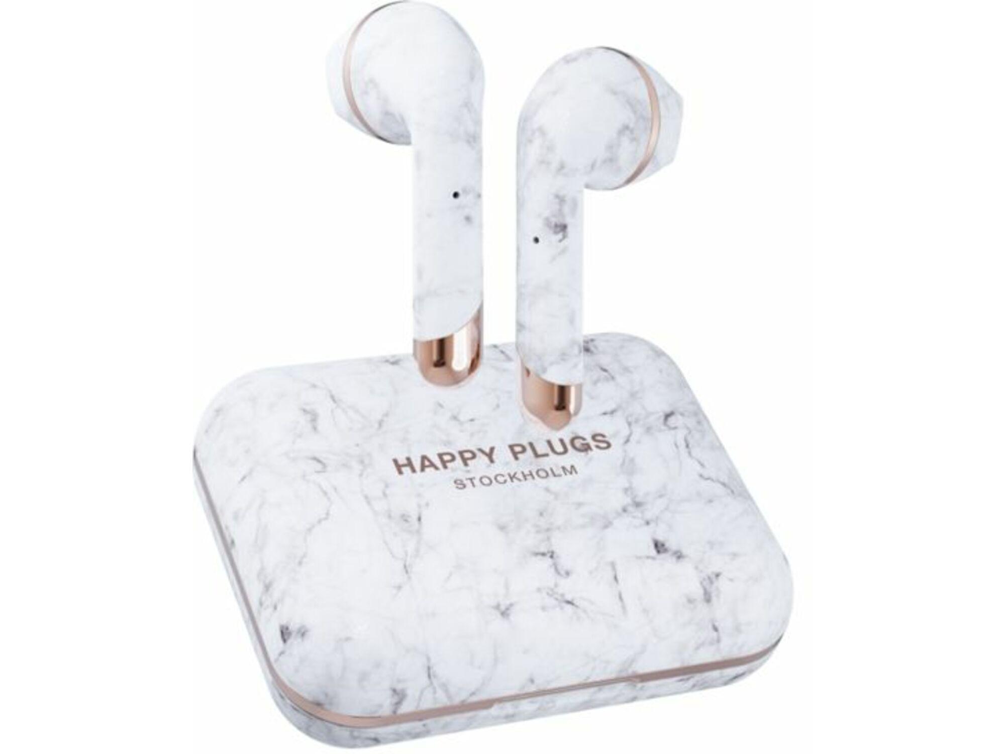 Happy Plugs slušalice Air 1 Plus Earbud- White Marble