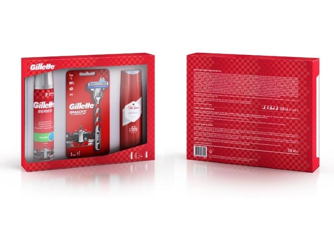 GILLETTE darilni set Mach3 Turbo + Old Spice gel za tuširanje + gel za britje 7702018538072