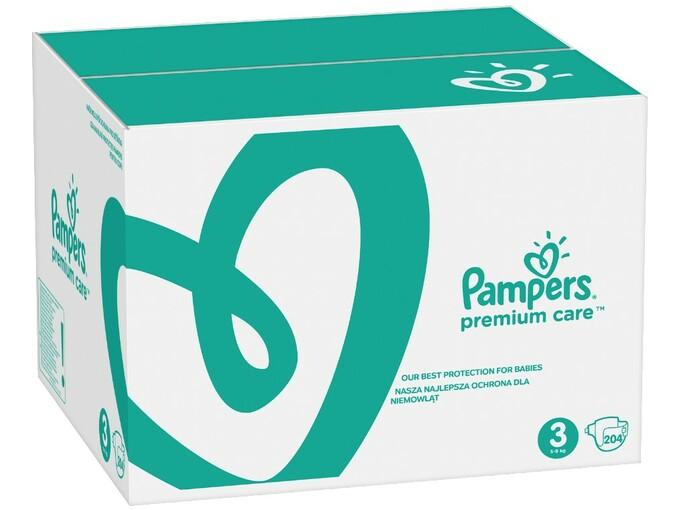 PAMPERS plenice Premium Care S3 (za 6 - 10kg) - 204 kos