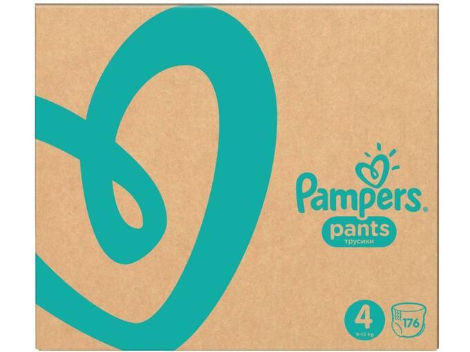 PAMPERS hlačne pleničke Active Baby Pants Velikost 4 (9 - 14 kg), 176 kom