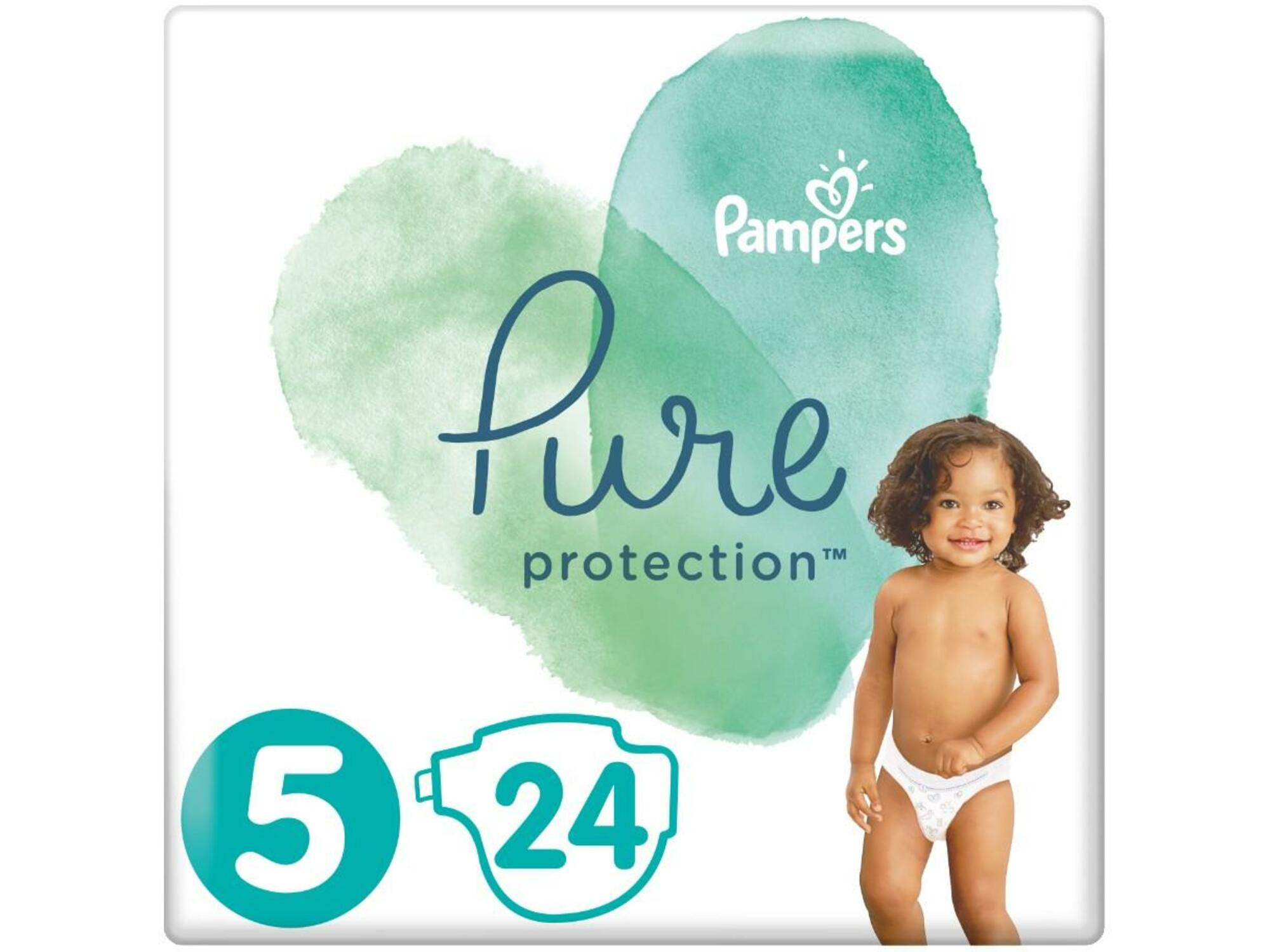 PAMPERS plenice Pure Protection, velikost 5, 11+ kg, 24 kos