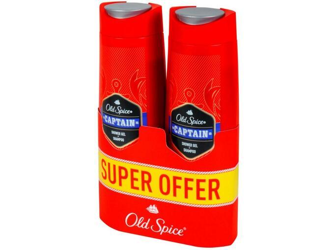OLD SPICE gel za tuširanje Capitan 2x400 ml 8001841671567