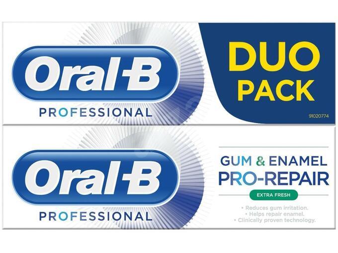 ORAL B zobna pasta Professional Gum & Enamel Pro-Repair Extra Fresh 2 × 75 ml 8001841729077