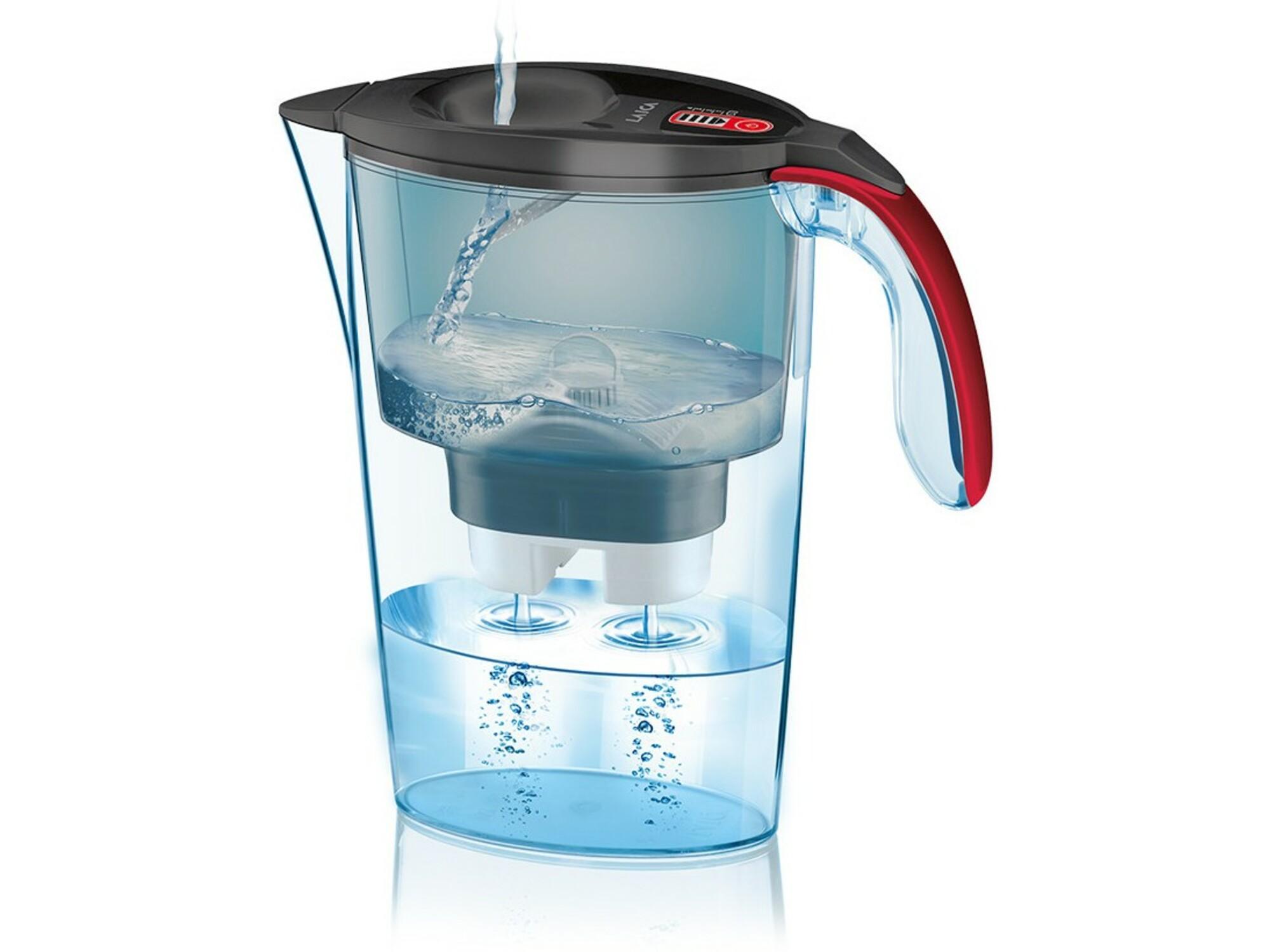 LAICA vrč za filtriranje vode 8013240702964 Light Graffiti - rdeč