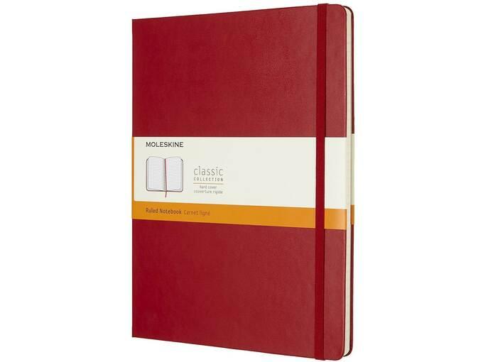 MOLESKIN MOLESKINE NOTEBOOK XL RULED SCARLET RED HARD COVER M-855082