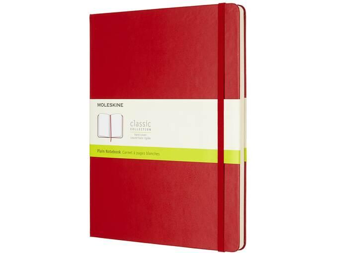 MOLESKIN MOLESKINE NOTEBOOK XL PLAIN SCARLET RED HARD COVER M-855105