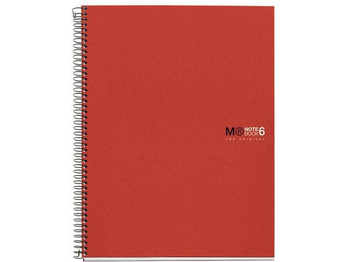 MIQUELRIUS zvezek A4, črtast, 200-listni, 70g BASIC MR43002 rdeč