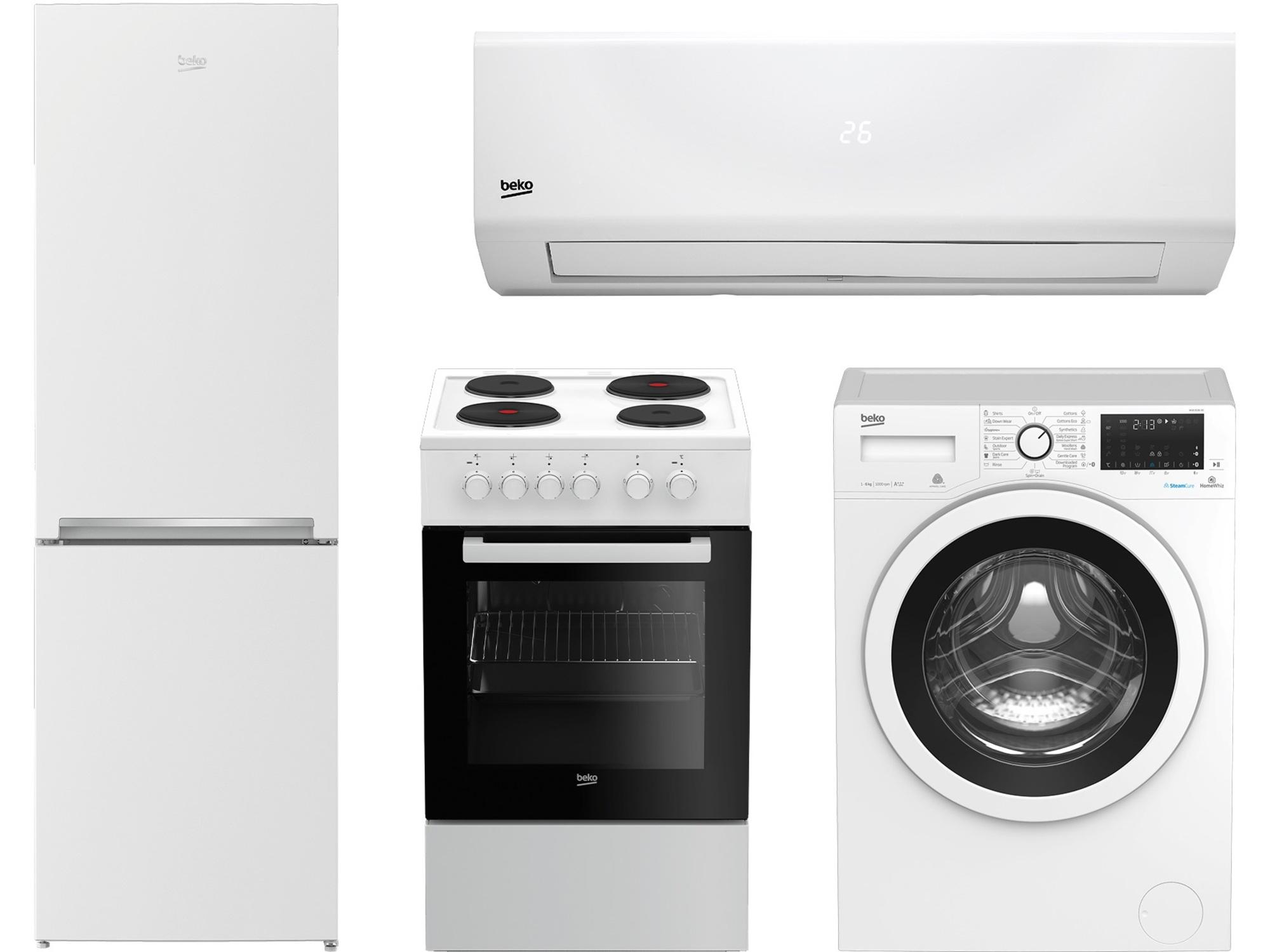 Beko Frižider, Šporet, Mašina za pranje veša + Klima uređaj