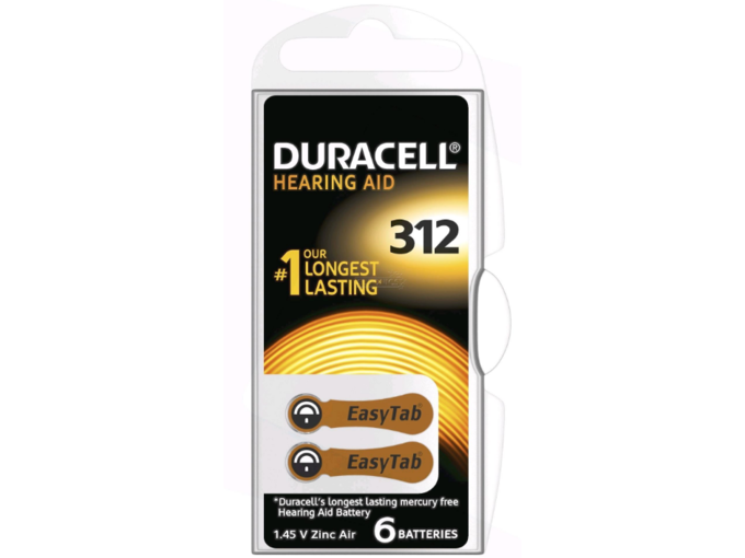 DURACELL baterije za slušne aparate Hearing Aid 312 B6
