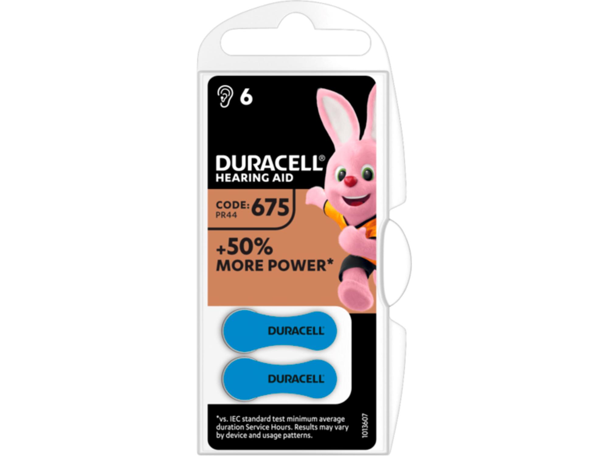 DURACELL baterije za slušne aparate Hearing Aid 675 B6